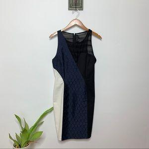 Sachin + Babi Multi Pattern Navy Sheath Dress